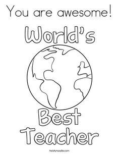 Teacher Appreciation Week - Coloring Pages | Classroom Doodles ...