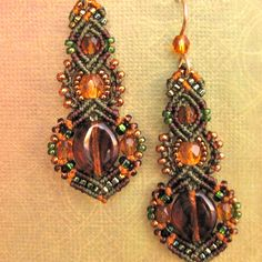 Micro Macrame Bead Earrings- via Etsy.