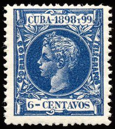 blue_alfonso_xiii_stamp___cuba__circa_1898