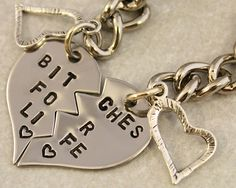 Bitches For Life Best Friend Key Chain Set $25.00
