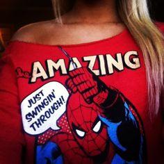 Spiderman shirt. I want this.