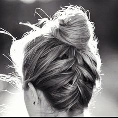 top knots + braids