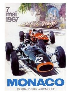 AP1657 - Monaco Grand prix, Racing Poster, 1967