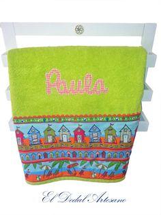 El Dedal Artesano: Toallas personalizadas para Paula