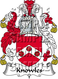 Knowles Family Crest apparel, Knowles Coat of Arms gifts