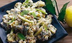 Fried cauliflower with tahini