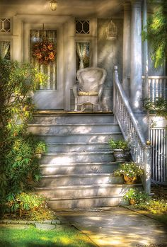 Porch - Westfield New Jersey - Grannies Porch / Fine Art America / artwork by Mike Savad