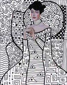 Pattern Art Lesson with Klimt · Art Projects for Kids Line Art Projects, Art Projects For Adults, Children Projects, Art Klimt, Gustav Klimt, Art Drawings For Kids, Art For Kids, Frida Art, Art Lesson Plans