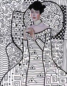 Klimt-Line-Art-803x1024-e1418510792805