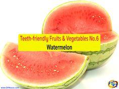 TEETH-FRIENDLY FRUITS & VEGETABLES NO. 6: WATERMELON // Dr Nease Orthodontics 2455 E. Main Street Spartanburg, SC 29307 (864) 579-7700 #Braces #Orthodontics #Invisalign #SpartanburgOrthodontist