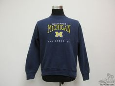 Vtg 90s Lee Sport Michigan Wolverines Crewneck Sweatshirt sz M University SEWN #LeeSport #MichiganWolverines