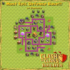 Town hall (level 6) best defence base plan - Clash of Clans Builder