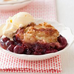 """With a name as unfortunate as """"grunt,"""" it's a good thing this old-fashioned dessert of stewed fruit with a steamed biscuit topping tastes so fabulous. Now, if we could just get it to work in the slow cooker. Coke Recipes, Crockpot Recipes, Dessert Recipes, Cooking Recipes, Slow Cooker Desserts, Crock Pot Slow Cooker, Pressure Cooker Recipes, Slow Cooking, Stewed Fruit"""