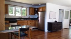 Here's the other side of the kitchen.  All stainless appliances, gas range and disposal too.  Check the window view too.