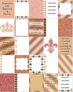 ROSE GOLD for use with Erin Condren Life Planner par LiveLoveLatte