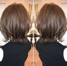 70 Brightest Medium Layered Haircuts to Light You Up - Two-Tier Piece-y Medium Cut - Medium Length Hair With Layers, Medium Hair Cuts, Medium Hair Styles, Short Hair Styles, Medium Cut, Cute Medium Haircuts, Bob Hairstyles, Short To Medium Haircuts, Braided Hairstyles