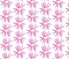 Big Pink Posies fabric by thecottonpress on Spoonflower - custom fabric