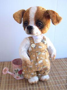 Купить Дикси - белый, щенок, щеночек, щенок тедди, щенок игрушка, собака, собака игрушка