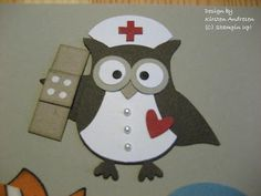 Nurse with bandaid using Owl punch and Bird punch
