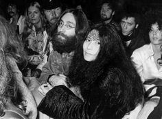 John and Yoko attend the Isle of Wight festival, where they see Bob Dylan perform, 31 August 1969