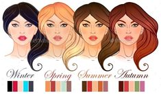Seasonal Color Types for Womens Skin Beauty Set