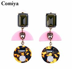 GDSHOP Fashion trendy amber cc fashion jewelry brand crystal dangle earings for women friendship christmas boho earring ** Visit the image link more details. Note:It is Affiliate Link to Amazon.
