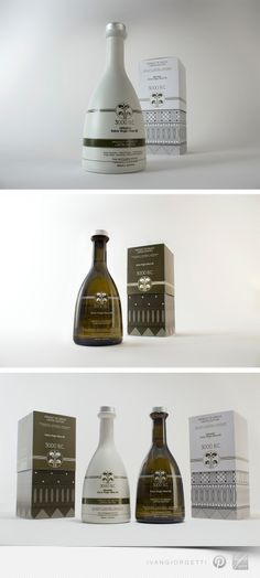 3000 B.C Olive Oil | Nice mycenaean style decorations #packaging designed by: The BrandHouse | GD > The Dieline