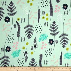 Designed by Alexia Marcelle Abegg of Green Bee Design for Cotton + Steel, this cotton print is perfect for quilting, apparel and home decor accents. Colors include purple, blush, lime, navy, and mint.