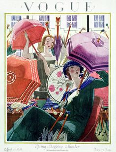 Illustration Art Print featuring the photograph A Vintage Vogue Magazine Cover From 1924 by Pierre Brissaud Illustrations Vintage, Illustrations And Posters, Magazine Collage, Magazine Art, Magazine Illustration, Illustration Art, Cover Art, Vintage Vogue Covers, Art Français