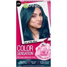 Garnier Color Sensation Rich Long-Lasting Color Cream, Out of the Blue Rich Hair Color, Hair Color Cream, Mens Hair Colour, Hair Color Streaks, Hair Color Blue, Cool Hair Color, Blue Hair, Pink Color, Soft Black Hair