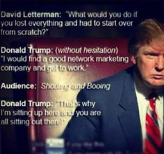 http://onlinemarketingcourses.info Donald Trump on David Letterman talking about network marketing. Don't talk do it for more go to!!  http://onlinemarketingcourses.info