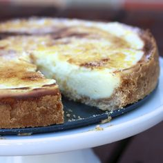 """creme brulee cheesecake;  a ny cheesecake recipe with a crust made with vanilla wafer and then topped it with a layer of sugar, which I torched/broiled to give it that """"creme brulee"""" effect. The end result turned up better than I ever could have imagined; the cheesecake itself was perfectly creamy and I was amazed to find it did not crack one bit while baking; will be my go-to """"plain"""" or base cheesecake flavor; loved the flavor of the vanilla wafer crust and the burnt sugar topping"""