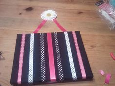 Going to try this to hang up the girls horse ribbons - make it wider n shorter how cute will that be?