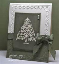 This handmade Christmas card is
