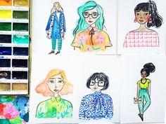 Watercolour & Ink Portrai