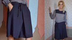 Gonna a pantalone VICTOIRE - camicia GINETTE - www.adelinecreazioni.com