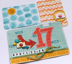 project life cards with stamped backgrounds by suzyplant at @Studio_Calico