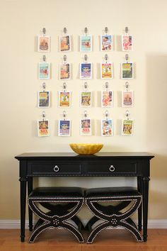 postcard display... might be good for all my Europe postcards!