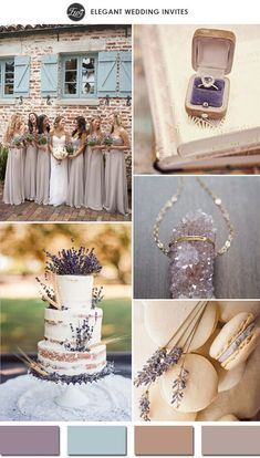 romantic lavender and nude wedding color palettes for 2015 wedding ideas #weddingcolors