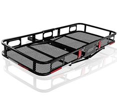 OxGord Universal Auto Steel Rear Hitch Mount Carrier Basket for Cars/Trucks/SUV - Max Capacity of 500Lbs
