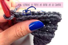 mitones punto estrella crochet