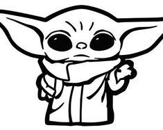 Star Wars Drawings, Art Drawings, Desenho Do Star Wars, Yoda Drawing, Star Wars Stickers, Star Wars Tattoo, Star Wars Art, Silhouette Projects, Vinyl Decals