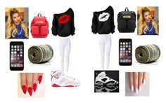 """""""Twin outfit"""" by happynini ❤ liked on Polyvore featuring NIKE and Moschino"""