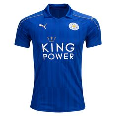 Leicester City 16/17 Home Soccer Jersey - Check out the latest British Premier League Soccer Jerseys and your favourite clubs apparel for 2016/17 at WorldSoccershop.com #BritishPremierLeague #Soccer #Apparel #Athletes #Training #Jerseys#BritishPremierLeague #Soccer #Apparel #Athletes #Training #Jerseys