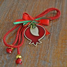 Macrame Design, Lucky Charm, Paracord, Pomegranate, Christmas Fun, Greek, Charmed, Handmade, Gifts