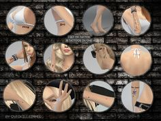 Contains all of Avril's tattoos, includding the middle finger and little stars.  Found in TSR Category 'Sims 4 Skintones'