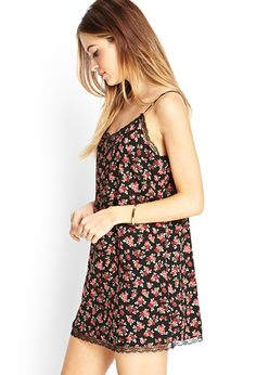 Lace & Rose Slip Dress | FOREVER21 - 2000123728 $15.80