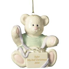 My Little One's 2nd Christmas Ornament by Lenox