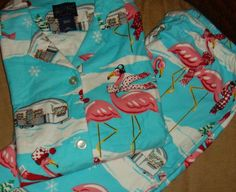 NWT Nick & Nora Airstream Pink Flamingos 3XL Pajamas PJs Womens Pink RV Camper #NickandNora #PajamaSets