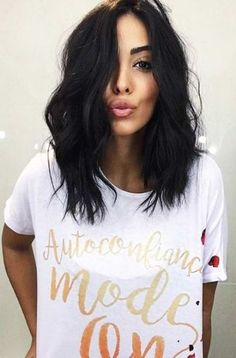 Hair Styles For Medium Length Hair Dark Short Wavy 20 Ideas Hair Hair Styles For Medium Length Hair Dark Short Wavy 20 Ideas Cute Hairstyles For Medium Hair, Short Black Hairstyles, Medium Hair Styles, Curly Hair Styles, Short Styles, Hairstyle Short, Prom Hairstyles, Dark Short Hair Styles, Easy Hairstyles